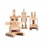 200 de cuburi din lemn Robots