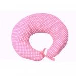Colac 3 in 1 pentru alaptat si joaca Confort buline albe pe roz