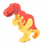 Jucarie Fauna Dinozaur T-Rex din lemn