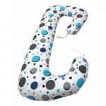 Perna de gravide si alaptare cu husa detasabila cerculete albastre