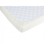 Set 2 x cearceaf cu elastic pt patut de 120x60 cm crem+alb