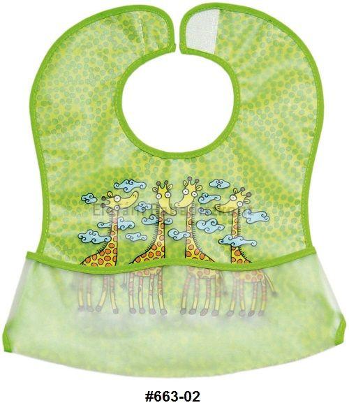 Baveta Plastic Moale 2set 35x32 Cm Girafa Verde Fillikid