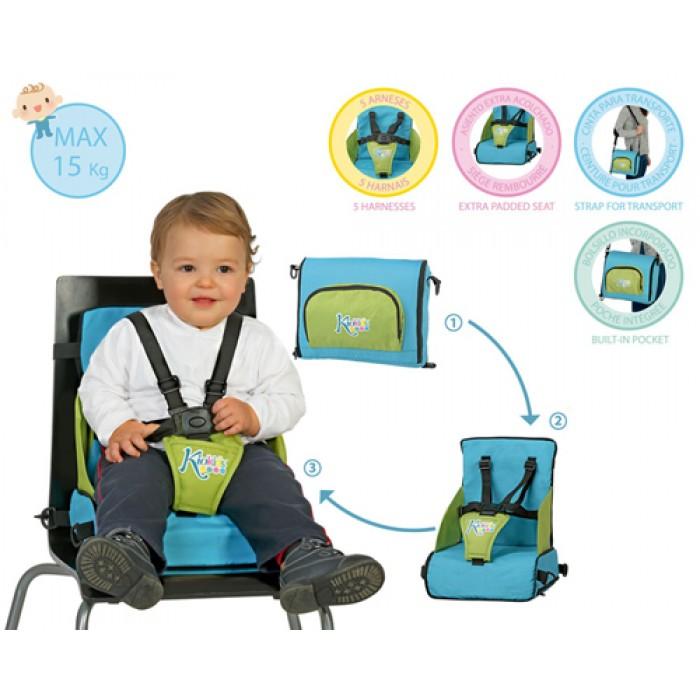 Booster Travel inaltator scaun masa pliabil bleu