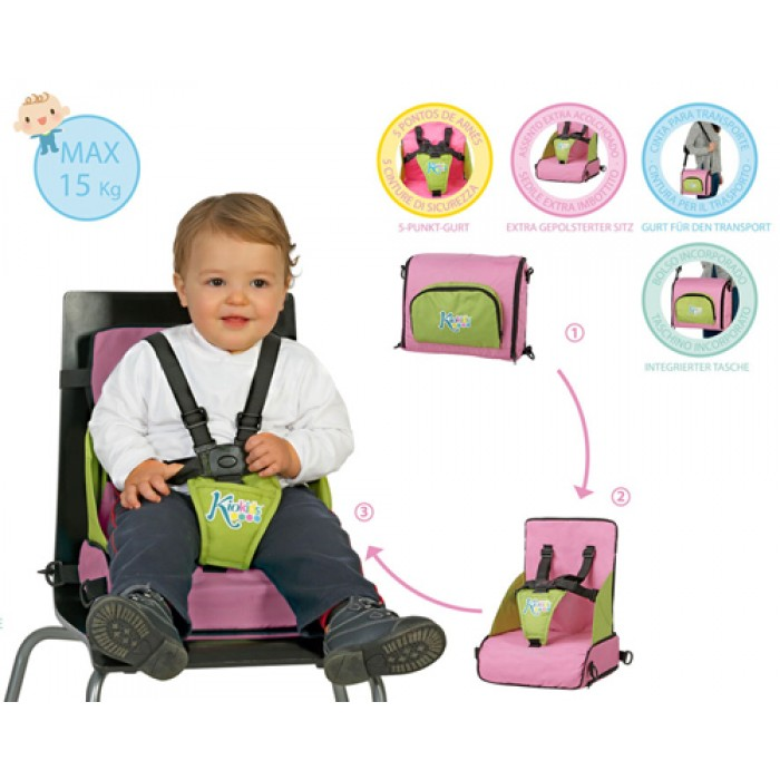 Booster Travel inaltator scaun masa pliabil roz