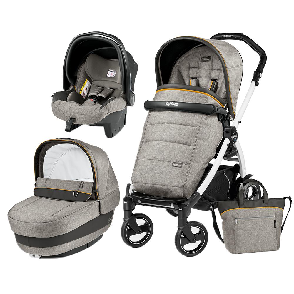 Carucior 3 in 1 Book Plus 51 S BlackWhite Completo Elite Luxe Grey