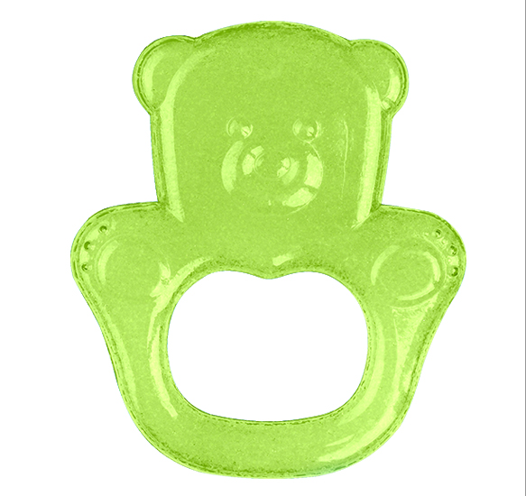 Inel gingival flexibil Baby Ono cu gel de racire Ursulet Verde