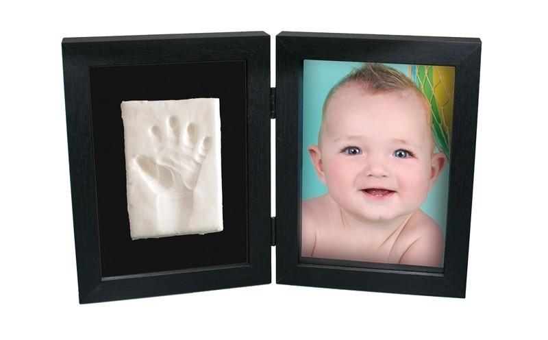 Kit amprenta bebelus 2D My First Print of Frame Kidzzcast culoare negru