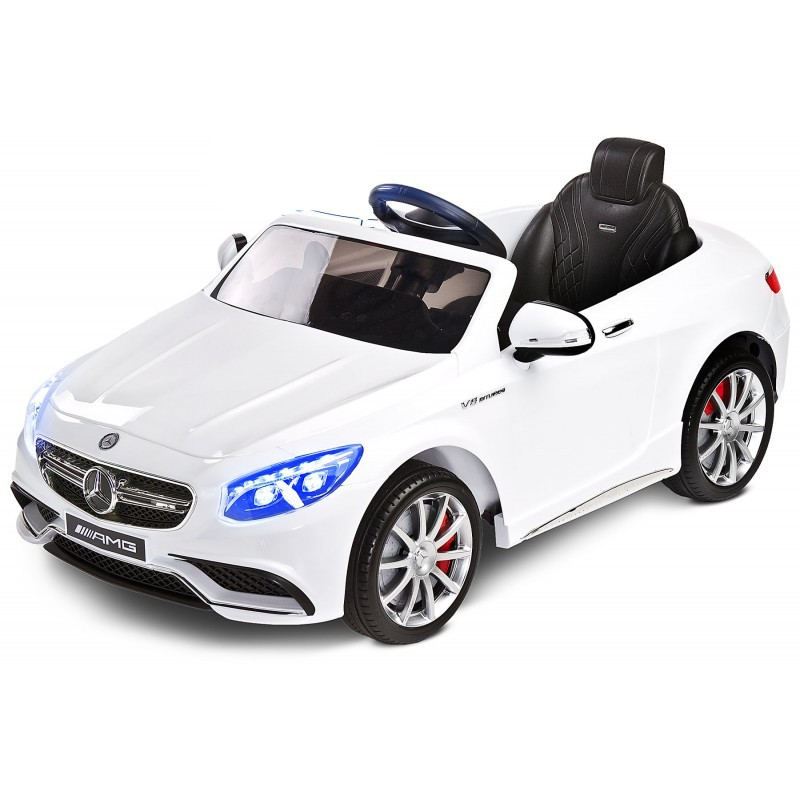 Masinuta electrica Toyz Mercedes-Benz S63 AMG 12V white - 2