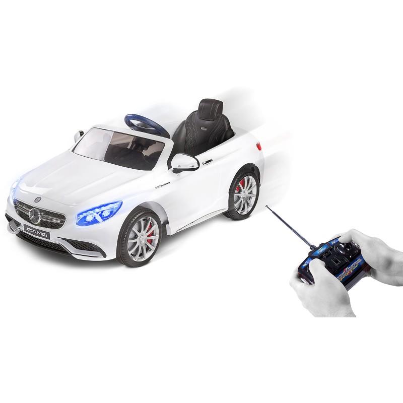 Masinuta electrica Toyz Mercedes-Benz S63 AMG 12V white
