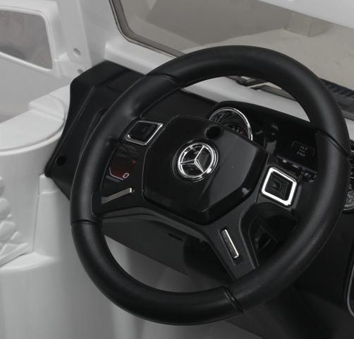 Masinuta electrica cu telecomanda Mercedes Benz G63 Alb