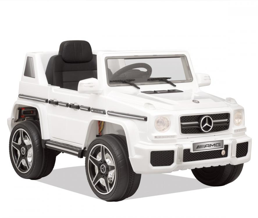 Masinuta electrica cu telecomanda Mercedes Benz G63 Alb - 4