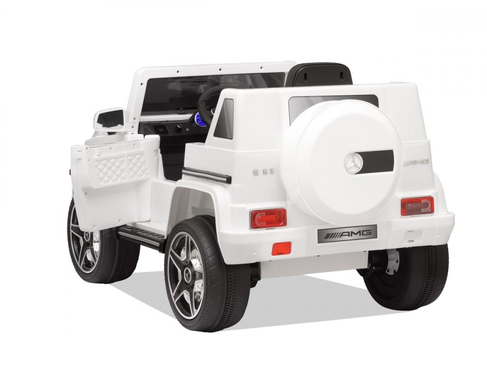 Masinuta electrica cu telecomanda Mercedes Benz G63 Alb - 2