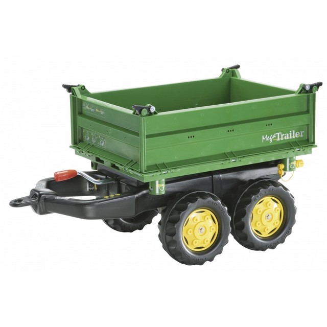 Remorca Mega Trailer Rolly Toys Verde - 1