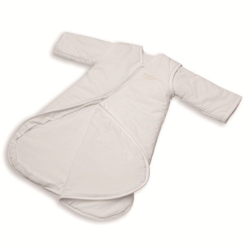 Sac de dormit PurFlo uni 3-9 luni (75 cm) culoare alb