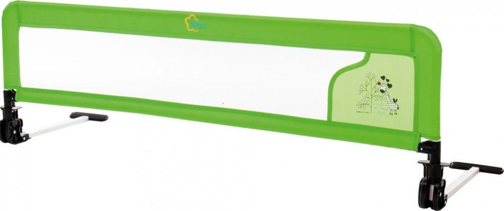 Siguranta metalica pentru pat 135cm verde Girafa Fillikid