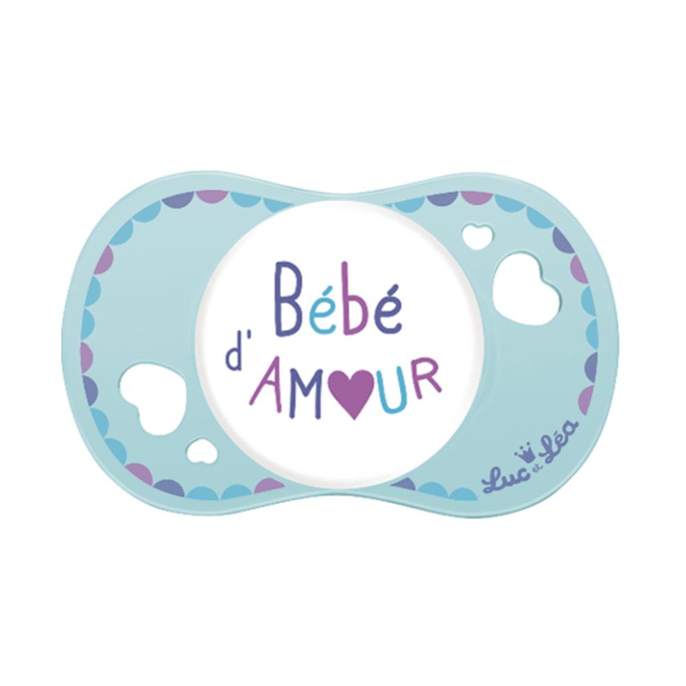 Suzeta fiziologica Bebe Damour Luc et Lea 0-6 luni