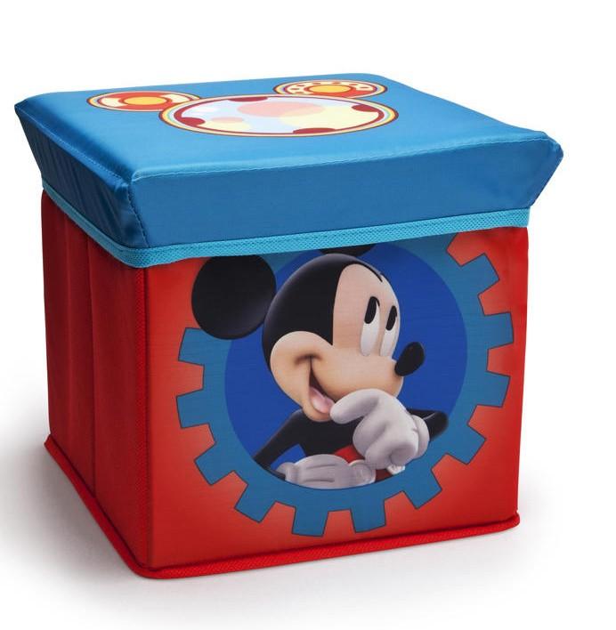 Taburet Si Cutie Depozitare Jucarii Mickey Mouse Clubhouse