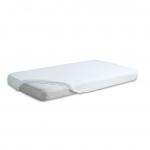 Cearceaf din velur cu elastic 120x60 cm White 01