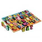 Puzzle lemn in relief litere