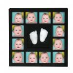 Rama foto cu mulaj 3D My First 12 Months Wall of Fame Kidzzcast culoare negru