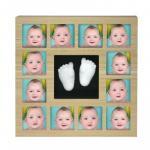 Rama foto cu mulaj 3D My First 12 Months Wall of Fame Kidzzcast culoare natur