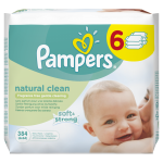 Servetele umede Pampers Natural Clean Baby 6 pachete 384 buc