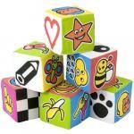 Set de 6 cuburi educationale pentru bebelusi