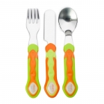 Set de tacamuri din inox 12 luni+ orange