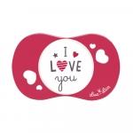 Suzeta silicon Sym I love you Luc et Lea 6 luni+