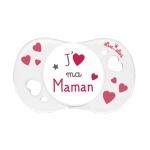 Suzeta silicon Sym Jaime ma maman Luc et Lea 0-6 luni