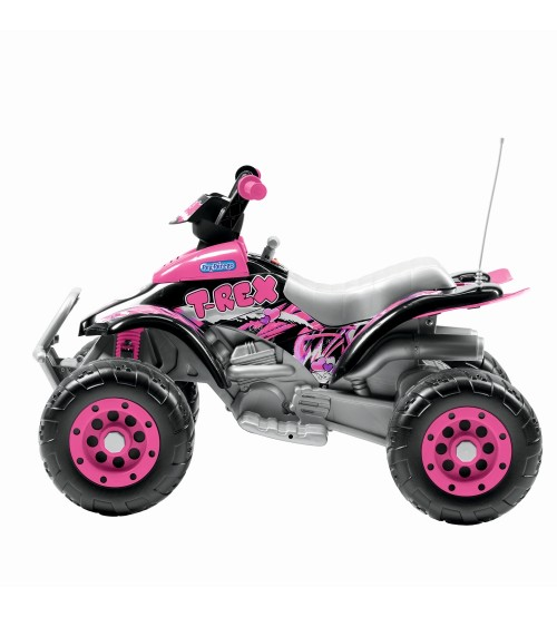 Atv Electric Corral T-Rex Pink Peg Perego
