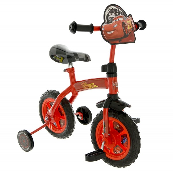 Bicicleta copii Cars 10 inch 2 in 1 cu si fara pedale imagine