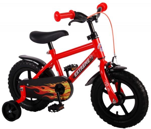 Bicicleta baieti 12 inch Volare Extreme Satin Orange cu roti ajutatoare