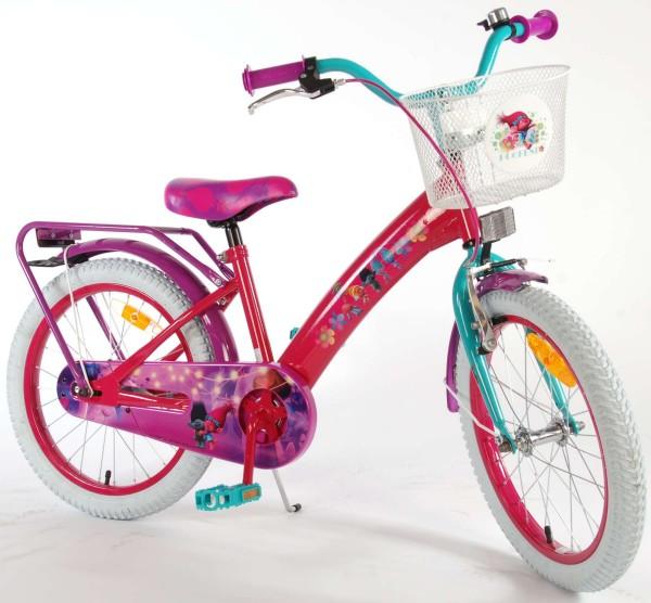 Bicicleta pentru fetite Trolls Volare 18 inch cu roti ajutatoare