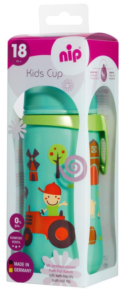 Cana Kids Cup Boy PP 330 ml antipicurare cu clip de prindere 18+ luni