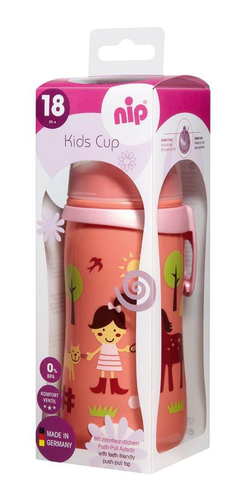 Cana Kids Cup Girl PP 330 ml antipicurare cu clip de prindere 18+ luni
