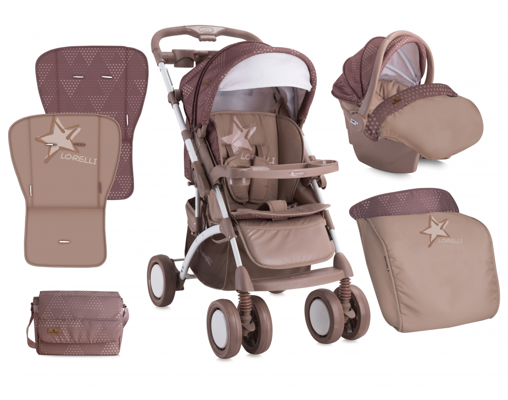Carucior 2 in 1 Set Apollo Beige Star
