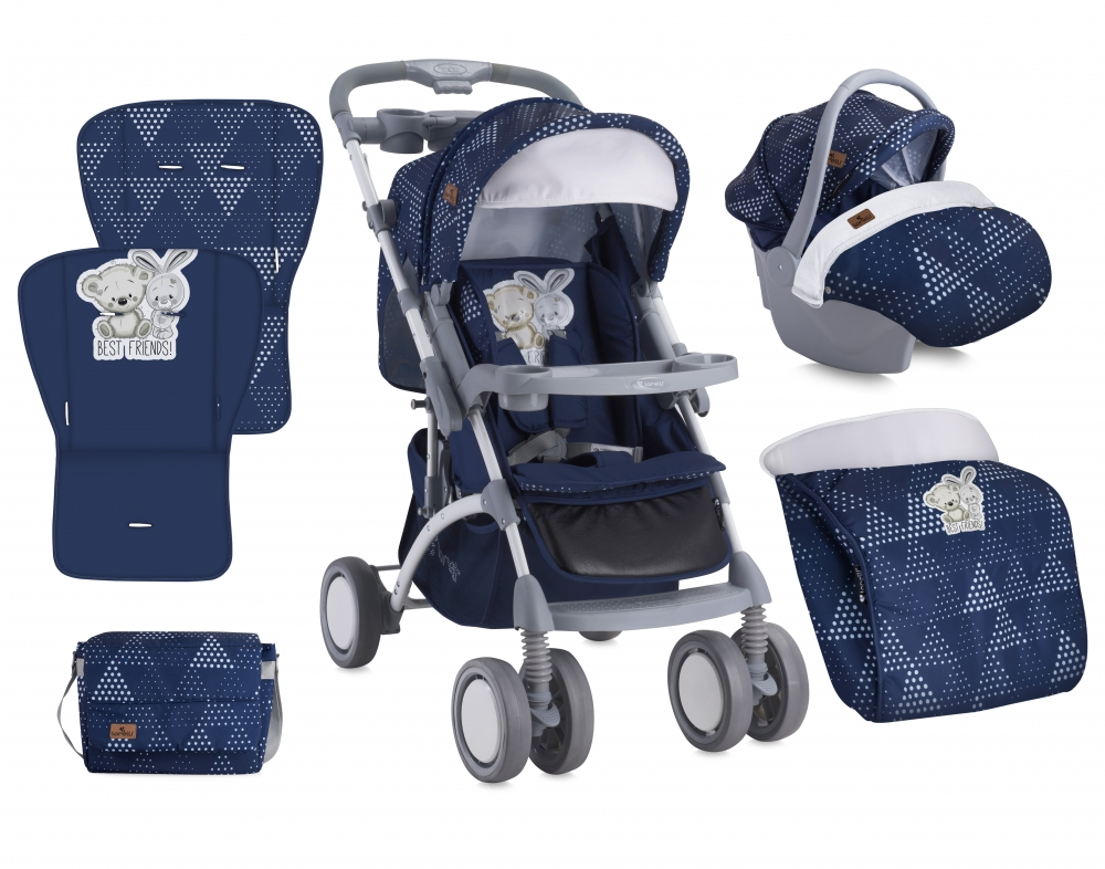 Carucior 2 in 1 Set Apollo Dark Blue Friends