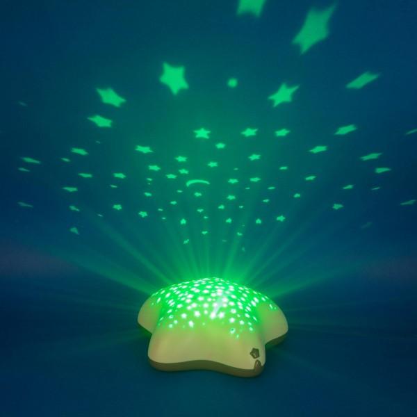 Lampa de veghe si proiector Bej Pabobo Stelute pentru copii si bebelusi cu baterii imagine