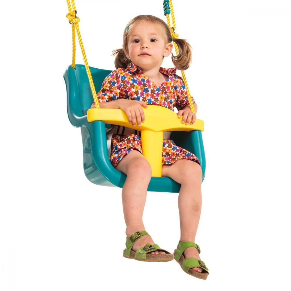 Leagan pentru copii Luxe PP galben turcoaz imagine