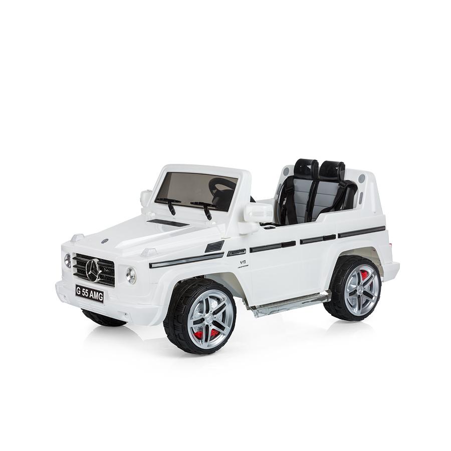 Masinuta electrica cu telecomanda Chipolino SUV Mercedes Benz G55 white