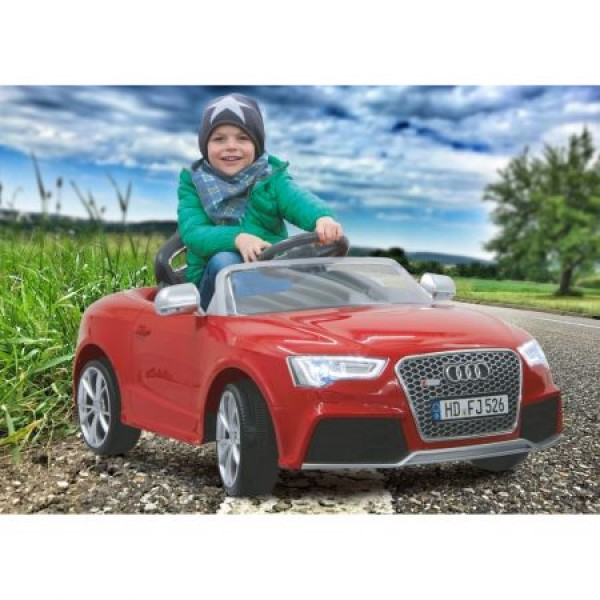 Masinuta electrica Audi RS5 rosie 12V cu telecomanda si MP3 player