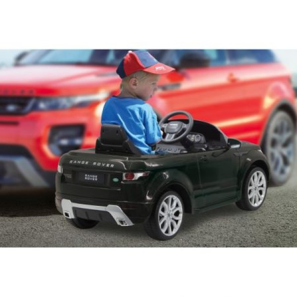 Masinuta electrica Land Rover Evoque Negru 9V cu telecomanda 2.4 Ghz