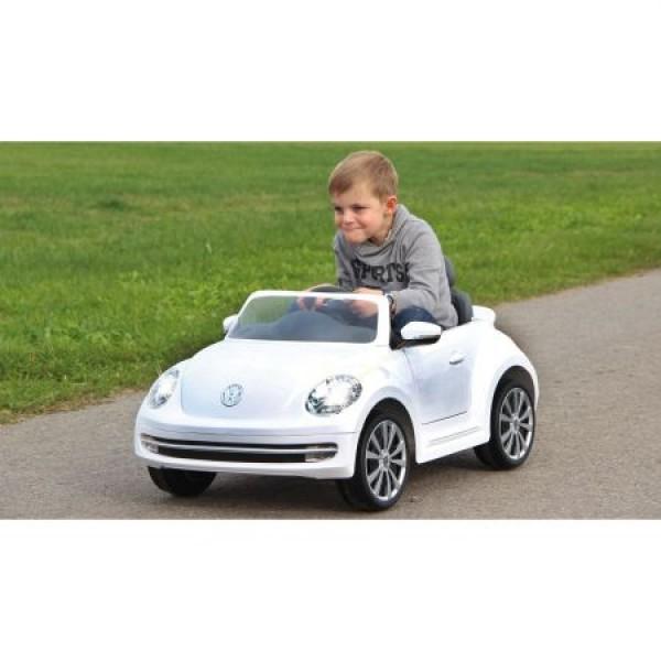 Imagine indisponibila pentru Masinuta electrica Volkswagen Beetle alba 6V cu telecomanda 2.4 Ghz