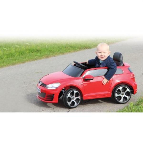 Masinuta electrica Volkswagen Golf GTI 2 VII rosie 12V cu telecomanda si MP3 player