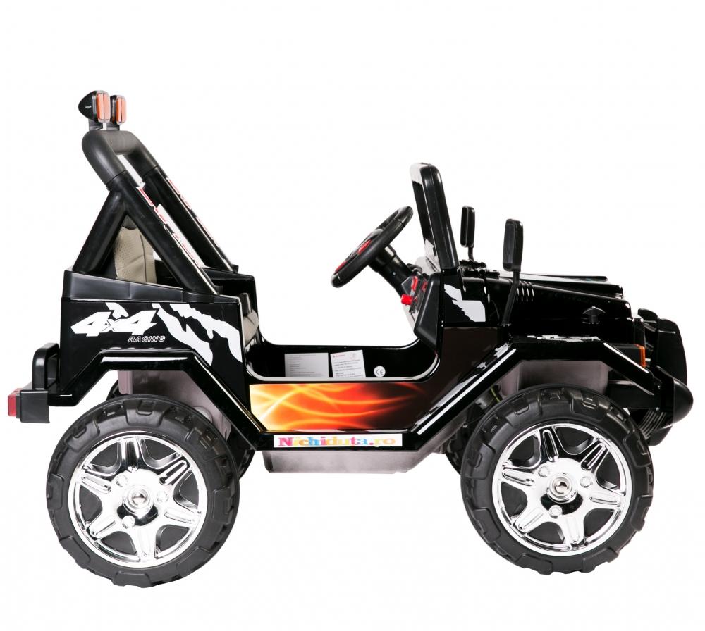 Masinuta electrica cu doua locuri Drifter limited edition Black Fire