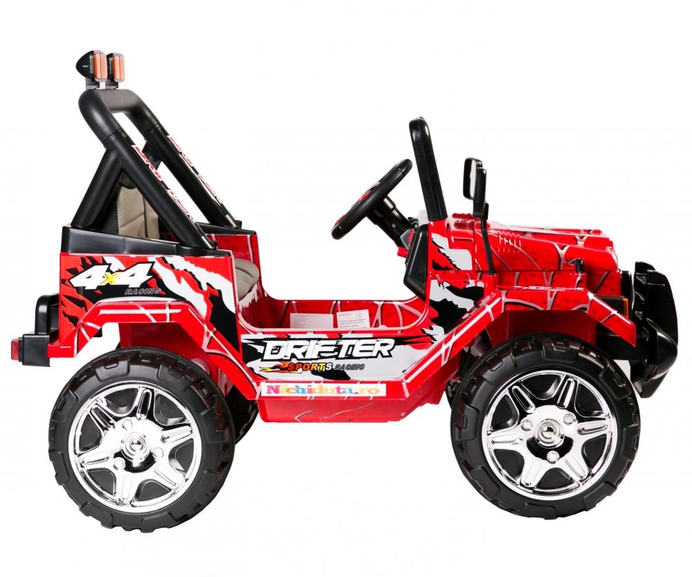 Masinuta electrica cu doua locuri Drifter Painted limited edition Red Spider