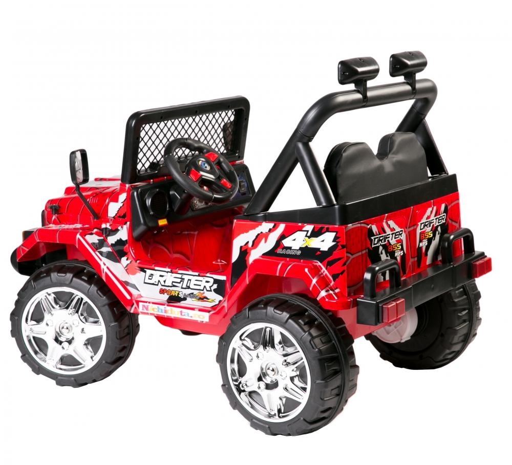 Masinuta electrica cu doua locuri Drifter Painted limited edition Red Spider - 1