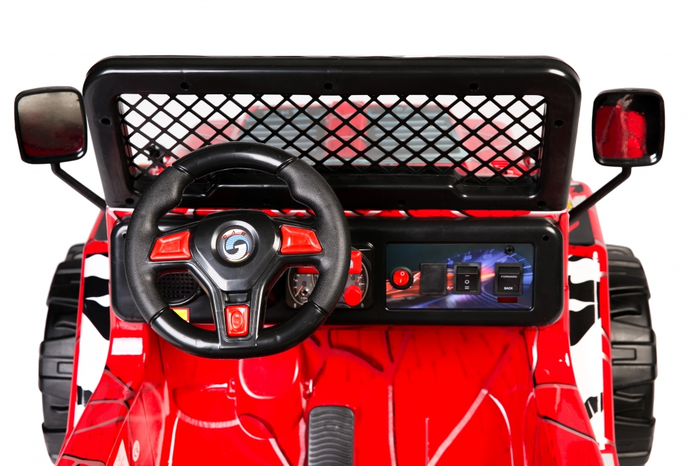Masinuta electrica cu doua locuri Drifter Painted limited edition Red Spider - 2