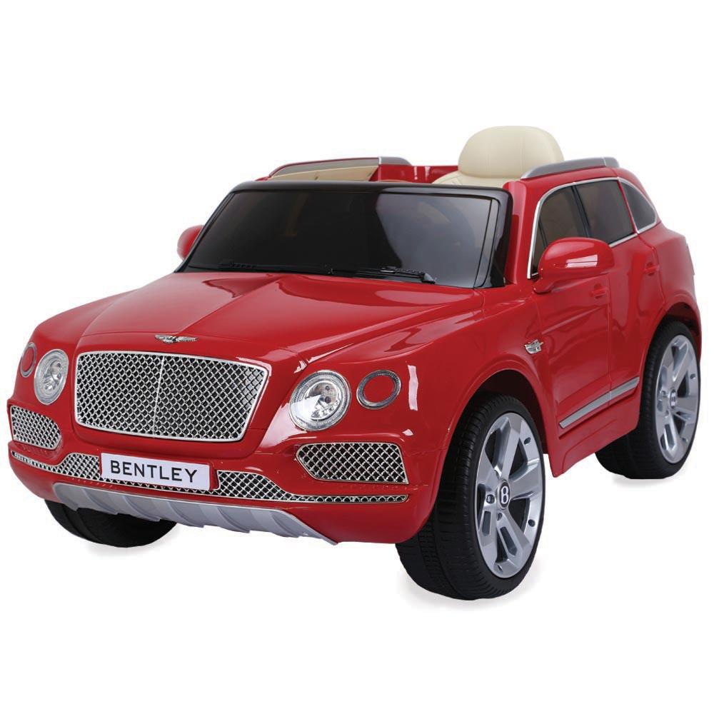 Masinuta Electrica Cu Roti Din Cauciuc Bentley Bentayga Red